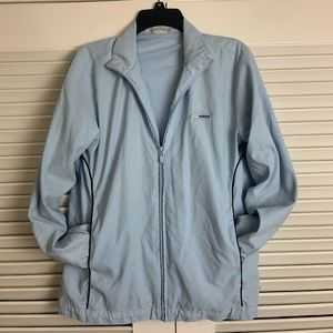 Adidas LG Zip Up sky blue track jacket